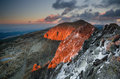Rila mountain sunset in bulgaria Royalty Free Stock Photo