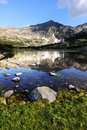 Rila mountains with lagoon in foreground Royalty Free Stock Photo