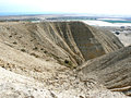 Rill erosion - desert hills Royalty Free Stock Photo