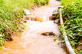 Rill flow in environment condition Royalty Free Stock Images