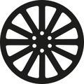 Rim icon car Royalty Free Stock Photo