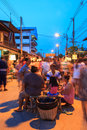Rim yom night market sukhothai thailand may unidentified tourists are shopping and eating at on may in sukhothai thailand Stock Images