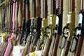 Rimfire rifles selection of for sale in a gun shop Royalty Free Stock Photo