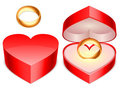 Ring box. Royalty Free Stock Photography