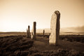 Ring of brodgar orkney scotland a neolithic stone circle and henge which is part the heart neolithic world heritage Royalty Free Stock Photo