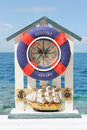 Ring-buoy with clock Royalty Free Stock Photography