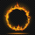 Ring of fire flame Royalty Free Stock Photo