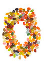 Ring of jelly beans Royalty Free Stock Photos