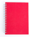 Ring notebook with red cover Royalty Free Stock Photo