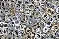 Ring pull aluminum of cans aluminium background recycle concept Royalty Free Stock Photography