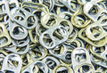 Ring pull aluminum of cans background Stock Image