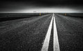 Ring Road, Iceland - Low view of long straight road across lava Royalty Free Stock Photo