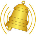 Ringing bell illustration of the icon Royalty Free Stock Photos