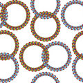 Rings seamless pattern Royalty Free Stock Photos