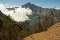 Rinjani Mountain Vulcano beautiful view Royalty Free Stock Photo