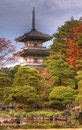 Rinoji Temple Pagoda Stock Photo