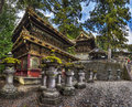 The rinzo and drum tower of toshogu shrine nikko japan taken in front divine bridge before yomeimon gate at this is where buddhist Royalty Free Stock Photo