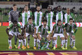 Rio ave futebol clube line up players pictuerd before the europa league game against steaua bucharest ederson moraes nuno miguel Royalty Free Stock Photos
