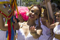 Rio carnival groups paraded through the city and warn about zika virus risks de janeiro brazil january locals tourists celebrate Stock Photos