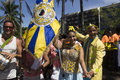 Rio carnival groups paraded through the city and warn about zika virus risks de janeiro brazil january locals tourists celebrate Stock Image