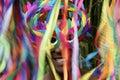 Rio carnival smiling brazilian man colorido en máscara Fotos de archivo
