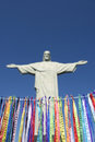 Rio carnival wish ribbons christ redeemer corcovado celebration features colorful brazilian lembranca at statue of the at Stock Images