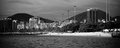 Rio de Janeiro as seen from a boat on Baia de Guanabara Royalty Free Stock Photos