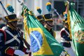 military civic parade celebrating the independence of Brazil Royalty Free Stock Photo
