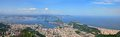 Rio de Janeiro, Brazil. Suggar Loaf viewed from Corcovado. Royalty Free Stock Photo