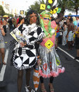 Rio de janeiro carnival is a street party combining some elements of a circus and mask nnrio s is considered the biggest in Stock Photos