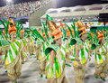 Rio de janeiro february dancers at carnival at sambodromo i in brazil the is biggest Royalty Free Stock Photography
