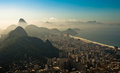 Rio de Janeiro in the Morning Haze Royalty Free Stock Photo