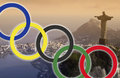 Rio de janeiro olympic games the in brazil Royalty Free Stock Photo