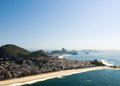 Rio de janeiro s dramatic beaches aerial view of and mountains Stock Photography