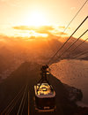 Rio de Janeiro Sunset from the Sugarloaf Mountain Stock Photos