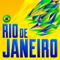 Rio de Janeiro vector lettering design Royalty Free Stock Photo