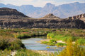 The rio grande as viewed from big bend national park in texas Stock Photography