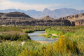 The rio grande as viewed from big bend national park texas Royalty Free Stock Photography