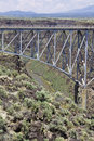 Rio Grande Gorge Bridge Stock Photo