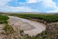 Rio grande river the powerful separates mexico and the united states Royalty Free Stock Photos