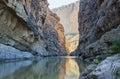 The Rio Grande River runs through Santa Elena Canyon Royalty Free Stock Photo