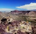 Rio Grande Valley and Sangre de Cristos Range - NM Royalty Free Stock Photo