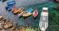 Riomaggiore, Cinque Terre, Włochy - Łódkowaty Wynajem Fotografia Royalty Free