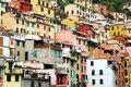 Riomaggiore colored houses in the town of in italy Stock Photography