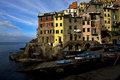 Riomaggiore in the north of italy Stock Images