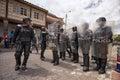 riot police in Ecuador