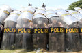 Riot simulation indonesia police doing in solo central java indonesia Stock Photography