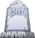 Rip grave vector illustration of an old with written on the stone Royalty Free Stock Photography