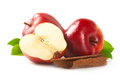 Ripe apple with cinnamon. Royalty Free Stock Photo