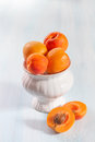 Ripe apricots on wooden background Royalty Free Stock Photography